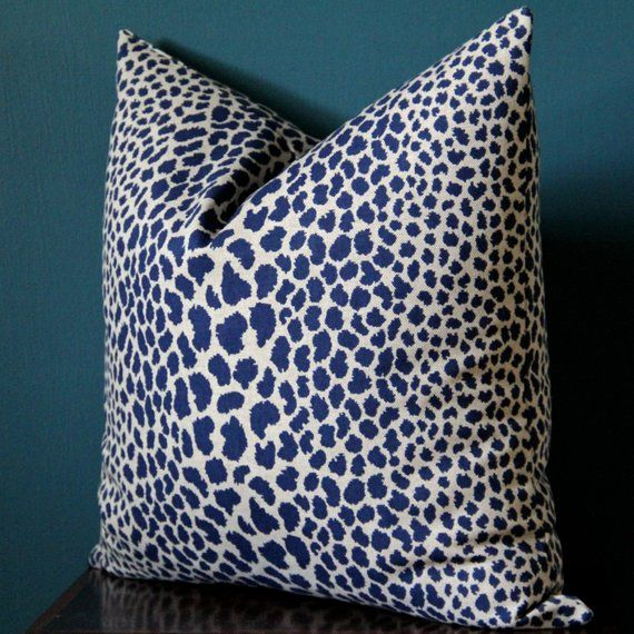Navy Cheetah Pillow Cover Navy Tan Pillow Cover Leopard Etsy In 2021 Leopard Print Pillows Leopard Pillows Animal Print Pillows