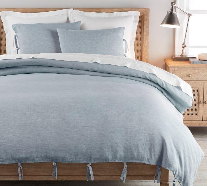 Belgian Flax Linen Duvet Cover With Ties Linen Duvet Covers Linen Duvet Blue Duvet