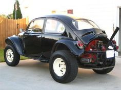Black Baja Bug. Depending on the roll cage this could be a family car.