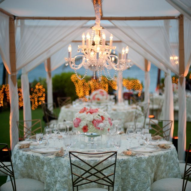 Canopy Chandelier To Create A More Intimate Feeling During An Outdoor Reception Destination