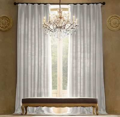 Restoration hardware look alikes lals on clearance for Restoration hardware silk curtains