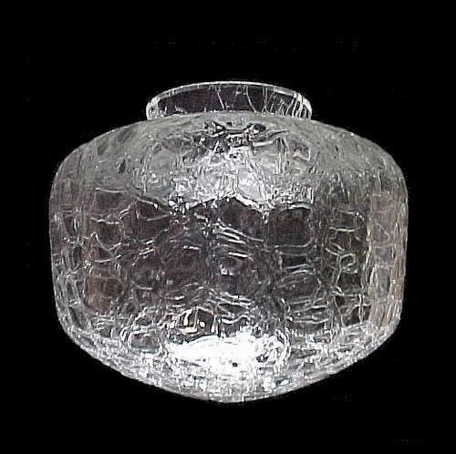 Clear Crackle Glass Schoolhouse Light Shade Art Deco