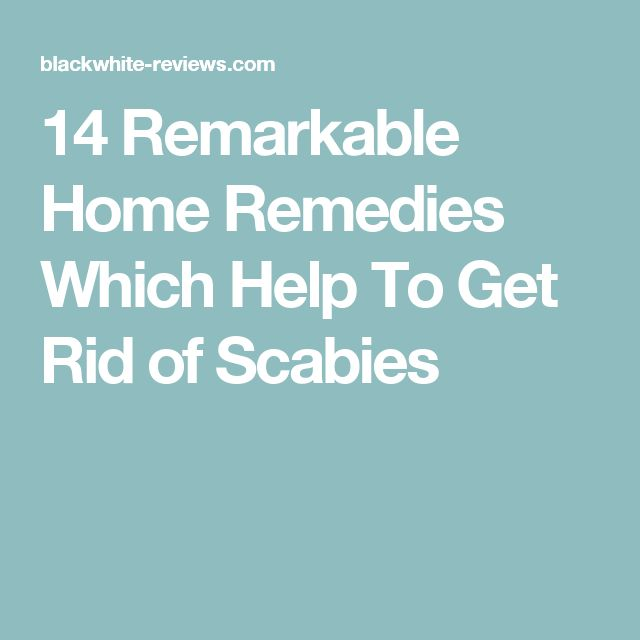 How To Get Rid Of Scabies The Natural Way