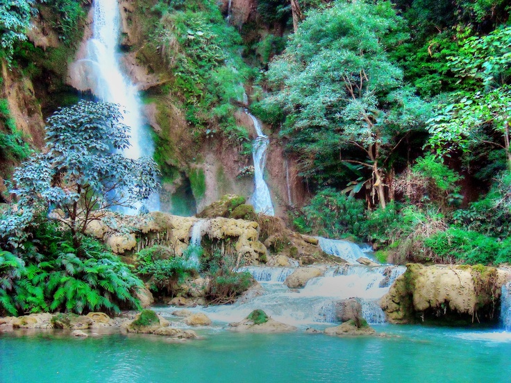 Kuang Si Waterfalls, near Luang Prabang, Laos.: Travel Destination