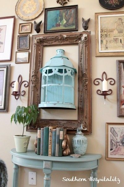 This totally would not go in my house, but i like the idea of the 3D effect with the birdhouse in the frame
