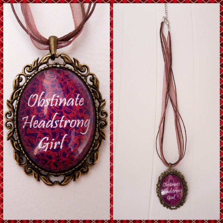 Purple and Red brocade Obstinate Headstrong Girl necklace.