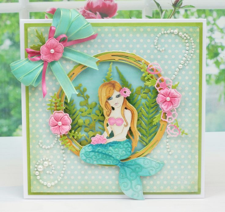 127 best mermaid cards images on pinterest mermaids card birthday tattered lace dies starlight collection using starlight circle d593 ferns bookmarktalkfo Images