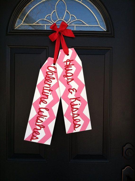Front Door Decoration  Door Hanger  Hugs & by TaggedWithLove1, $30.00