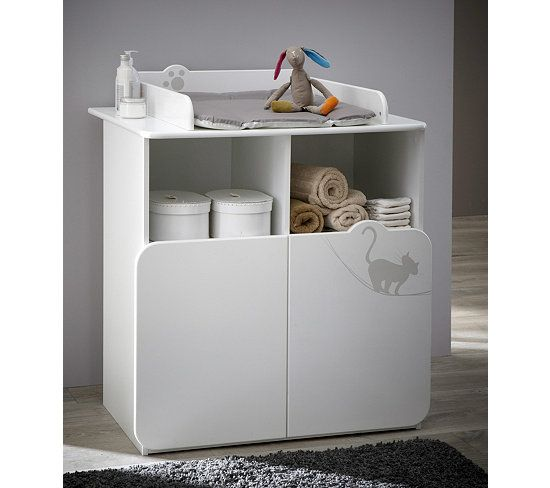 plan langer commode table langer bb kitty blanc - Table A Langer Commode