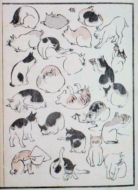 これは珍しいっ!浮世絵師 歌川広重によるスケッチ画集「浮世画譜」可愛い猫ちゃんも登場! – Japaaan 日本の文化と今をつなぐ