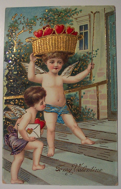 Don't look now but there are two naked boys with a riding crop outside your door