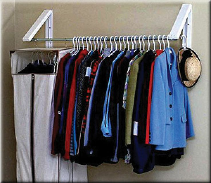 Cloth Drying Rack Hanging Storage Wall Mount Cabinet