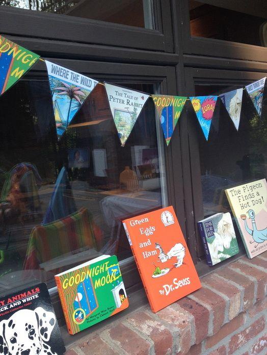 children's books baby shower bunting