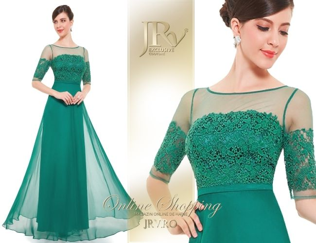 Rochie de seara Anya Green - JRV Exclusive Couture // JRV.ro