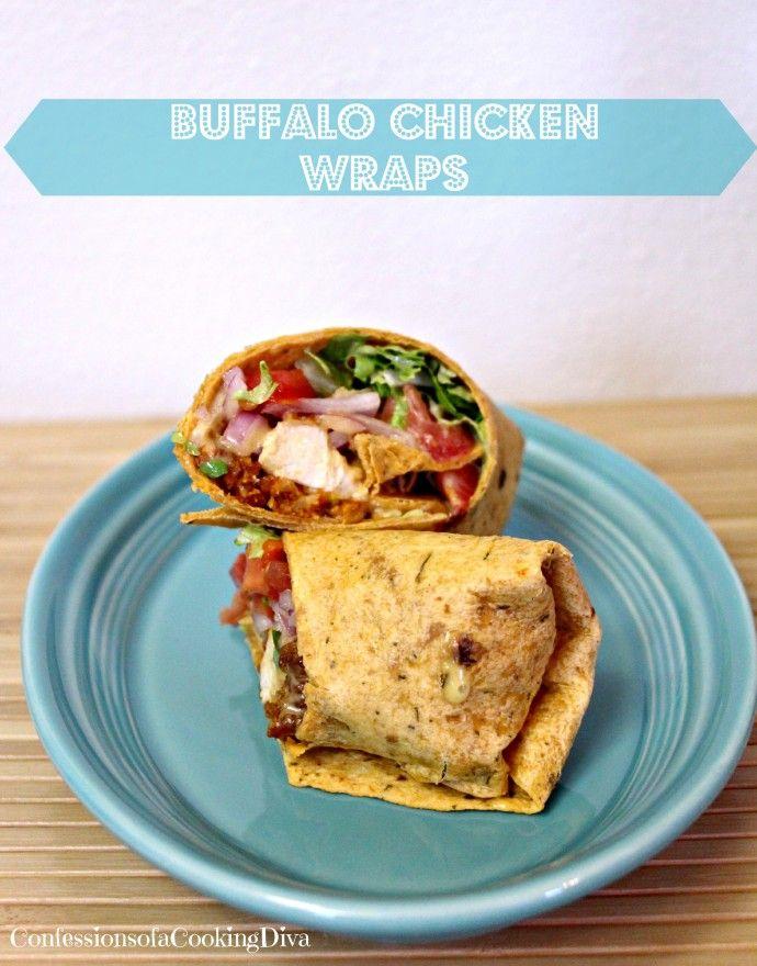 buffalo chicken wraps #recipe #sandwich #lunch #dinner