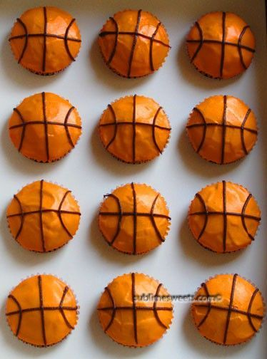 Basketball cupcakes - for the end of season party
