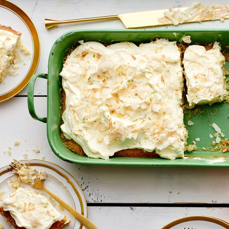 Coconut–Key Lime Sheet Cake