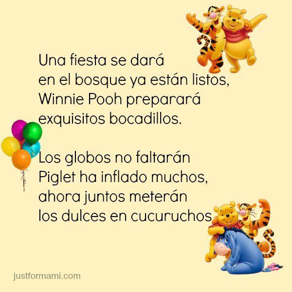 Rimas para niños de Cuentos infantiles #rimasparaniños #rimasinfantiles #Cuentosinfantiles #rimas #winniepooh