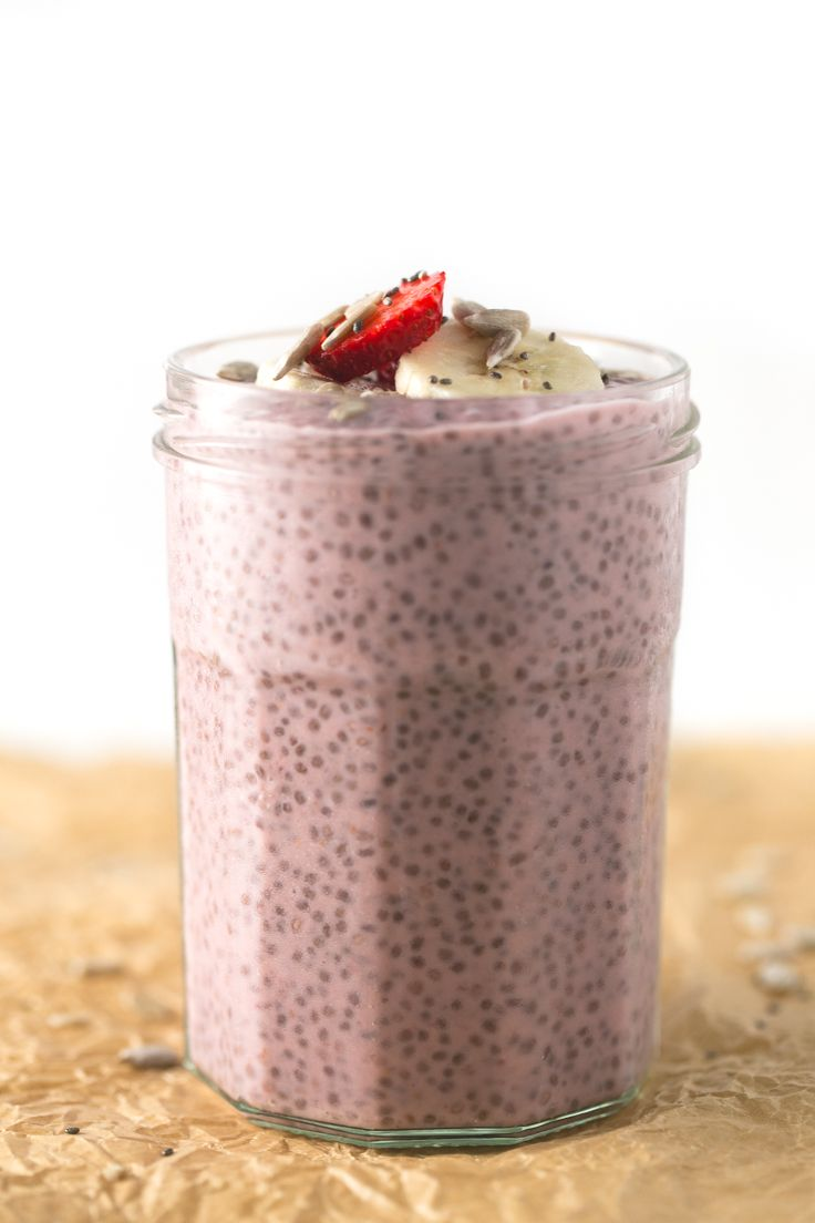 Pudin de chia con fresas - Este pudin de chía con fresas es el desayuno ideal si tenéis prisa por las mañanas porque podéis prepararlo el día…