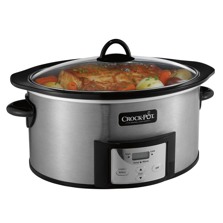 Crock-Pot® 6-Quart Slow Cooker with Stovetop-Safe Cooking Po - Two steps. One pot. No problem.  Enjoy the versatility you want with the convenience you need, thanks to this slow cooker's double-duty DuraCeramic™ cooking pot. Now you can use the same pot to brown, sear, or saute ingredients directly on the stovetop before placing it into the slow cooker to finish cooking.