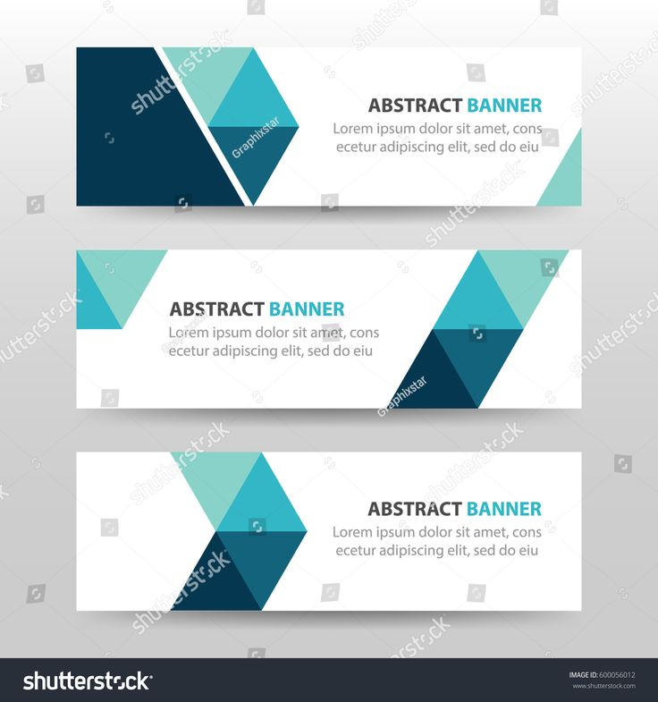 Collection blue horizontal business banner set vector templates. clean modern geometric abstract background layout for website design. simple creative cover header