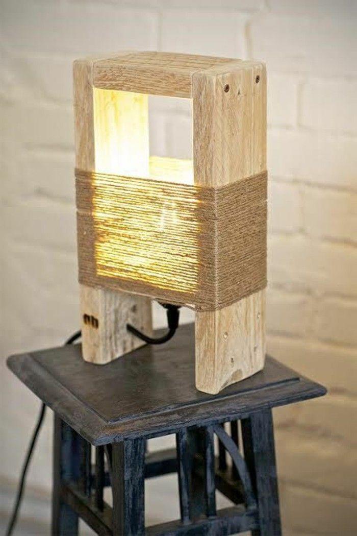 Diy Lampe 76 Super Coole Bastelideen Dazu Holzleuchte