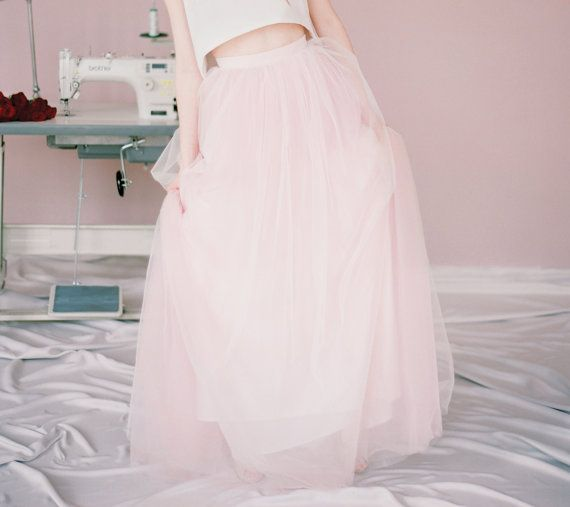 Beth // Bridal skirt - bridal separates - wedding skirt - long tulle skirt - ball skirt - color tulee skirt - milamira - tulle wedding gown