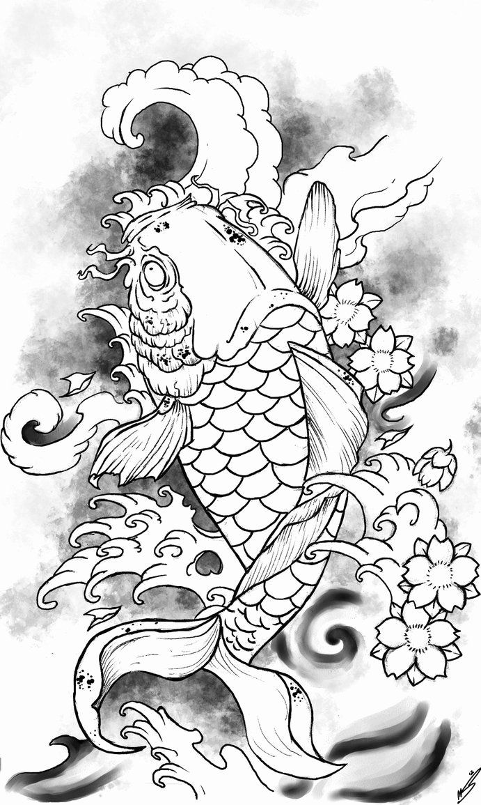 Koi Fish Coloring Page Awesome Coy Fish Coloring Pages Coloring Home In 2020 Animal Coloring Pages Adult Coloring Animals Bear Coloring Pages