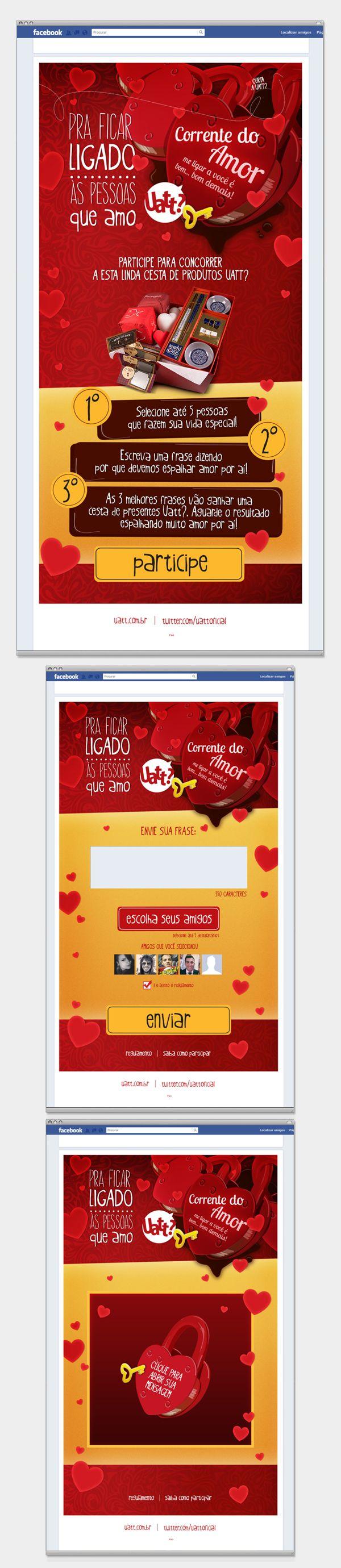 Uatt? - Aplicativo no Facebook do dia dos namorados on Behance