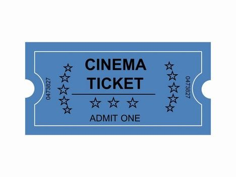 CINEMA TICKET TO ADMIT ONE TO SPANISH MOVIE POSTERS