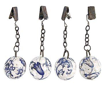 Set di 4 pesi per tovaglia in ceramica may, h 11 cm