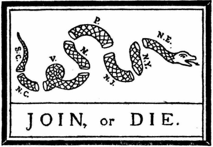 join or die | join or die flag variant based on original cartoon the join or die