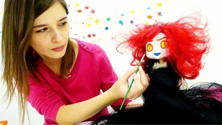 Видео для девочек. Куклы: МАКИЯЖ на ХЭЛЛОУИН для Землянички. Видео для д...