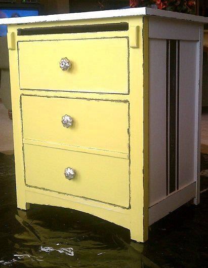 Painted Furniture End Table Bedroom Furniture Home Decor One Of A Kind Furniture