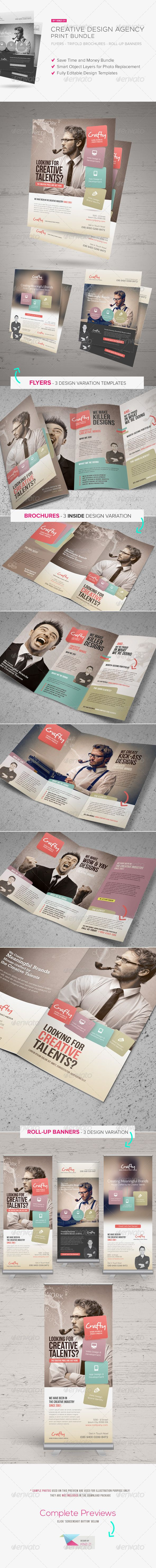 Creative Design Agency Print Bundle are design templates created for sale on Graphic River. More info of the templates and how to get the sourcefiles can be found on this page: http://graphicriver.net/item/creative-design-agency-print-bundle/6523575?r=kinzi21