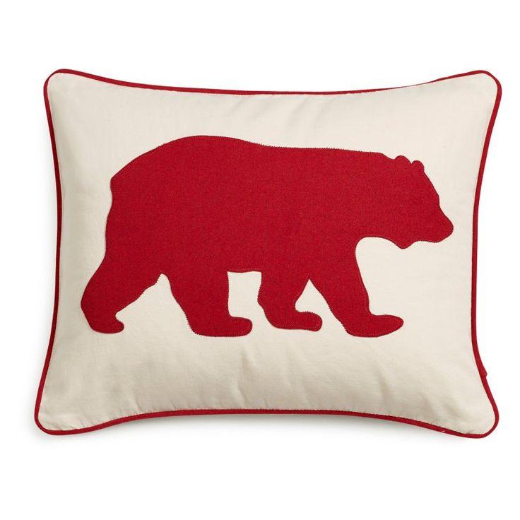 Eddie Bauer Bear Decorative Pillow by Eddie Bauer Red - 216608