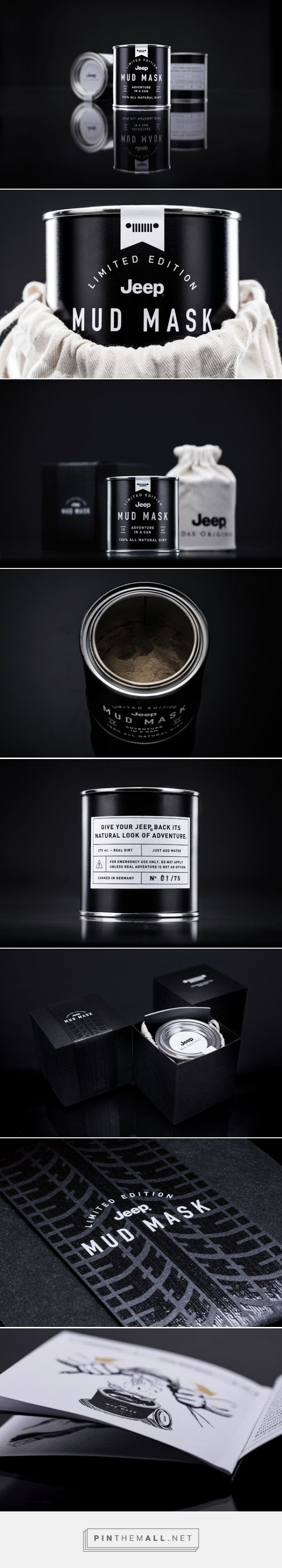 Jeep‬ ‎Mud‬ ‪Mask‬ ‪‎limited edition‬ ‎packaging‬ designed by Parasol Island (‪Germany‬) - http://www.packagingoftheworld.com/2016/02/jeep-mud-mask.html