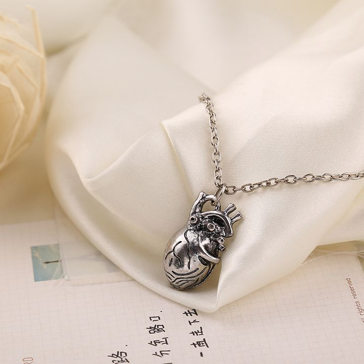 Lebih dari $ 5 pengiriman gratis pos eceran dan grosir fashion perhiasan, Baru anatomi jantung liontin kalung