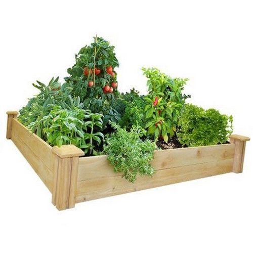 Raised Garden Bed Kit Flower Vegetable Raddle Planter Herb Grow Box Wood Frame #RaisedGardenBedKit