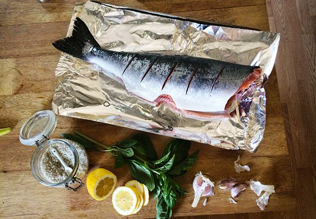 how to cook bbq salmon in oven