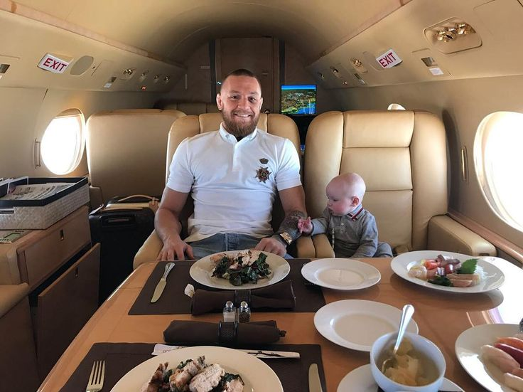 """1.9m Likes, 10.6k Comments - Conor McGregor Official (@thenotoriousmma) on Instagram: """"We are having lunch on the jet on our way to Ibiza, and he is still after the watch too. My young…"""""""