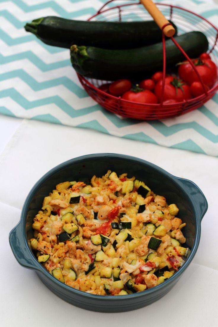 Grâtin de pâtes, poulet et légumes à la cancoillotte - 7SP weight watchers