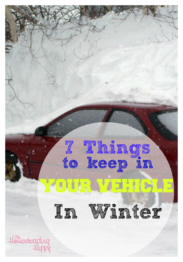 Winter is here...do you have the 7 things you need in your vehicle during the winter to keep you safe in an emergency? #prepared #homesteadhippy #fromthefarm #wintersafety