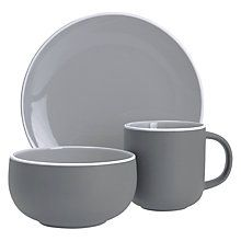 Buy John Lewis Puritan Breakfast Set, 12 Piece, Grey Online at johnlewis.com