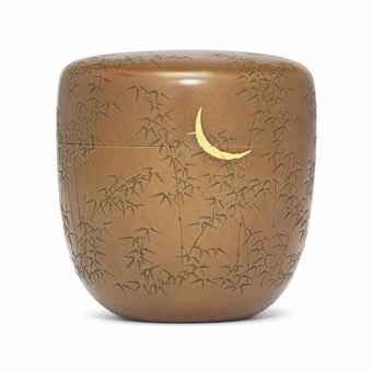 A COPPER NATSUME [TEA CADDY] SIGNED GOTO HOKKYO ICHIJO SAKU, EDO PERIOD (19TH CENTURY)