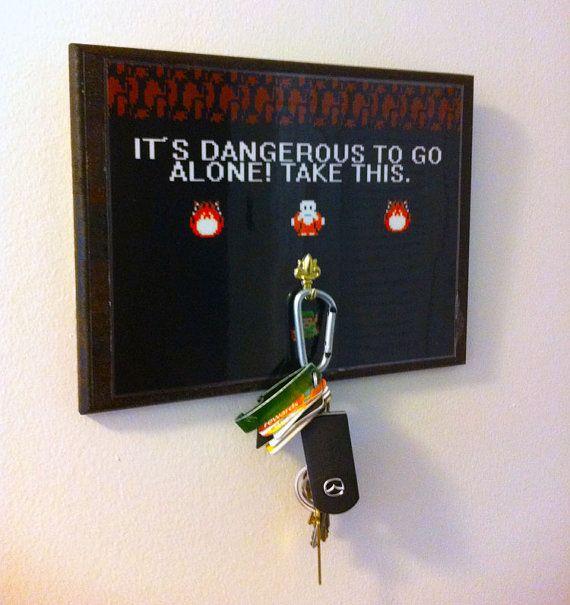 Video Game Key Hanger by PraticalGeek on Etsy