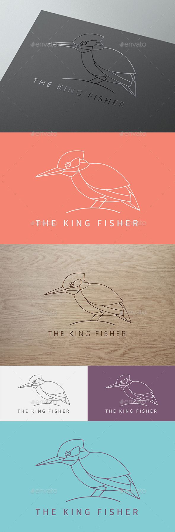 The King Fisher — Vector EPS #clean #restaurant • Available here → https://graphicriver.net/item/the-king-fisher/9527964?ref=pxcr