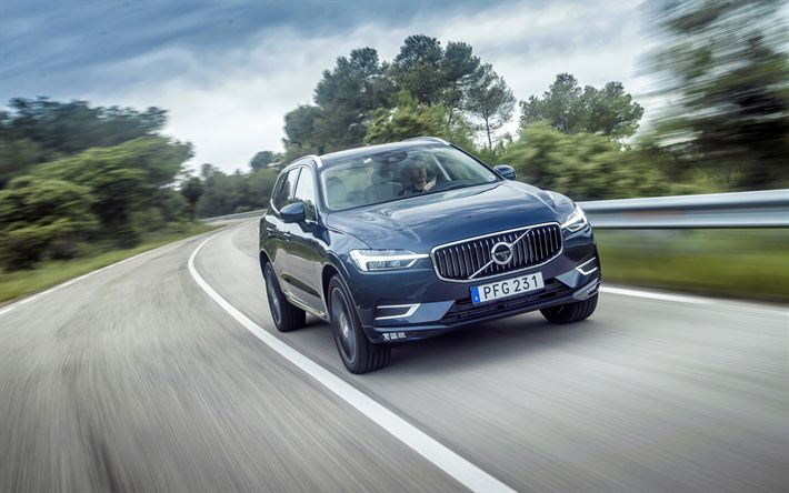 Download wallpapers 4k, Volvo XC60, T6, 2018 cars, road, crossovers, new XC60, Volvo