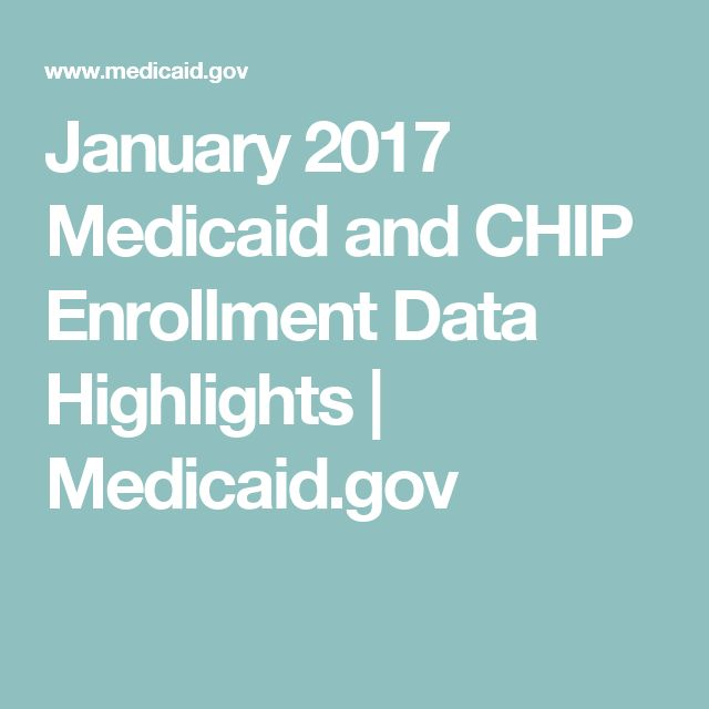 January 2017 Medicaid and CHIP Enrollment Data Highlights | Medicaid.gov