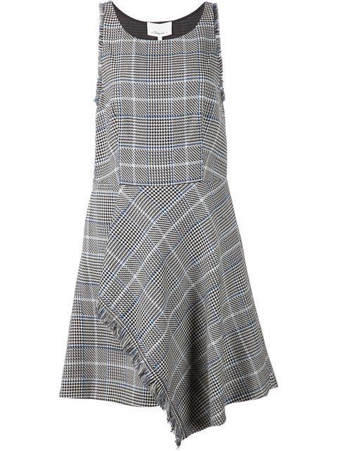 платье в клетку с бахромой